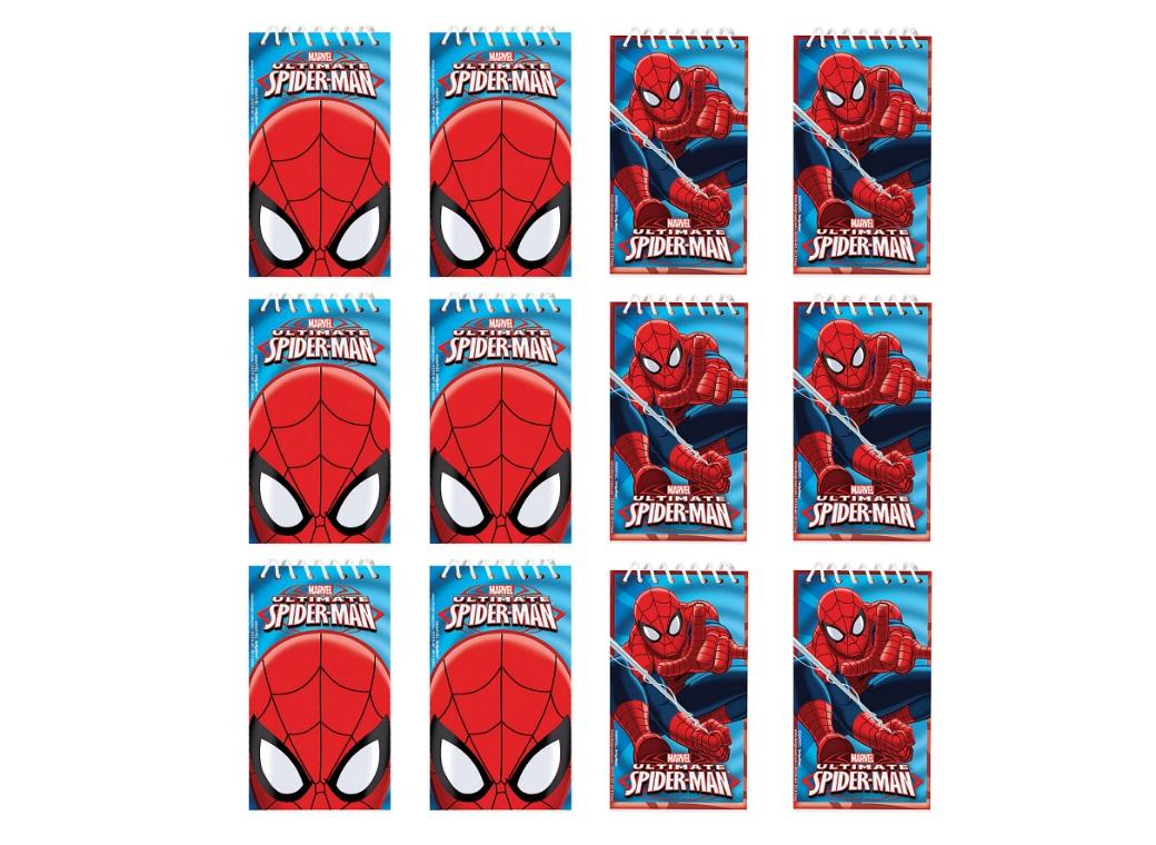 Spiderman Notepads 12pk