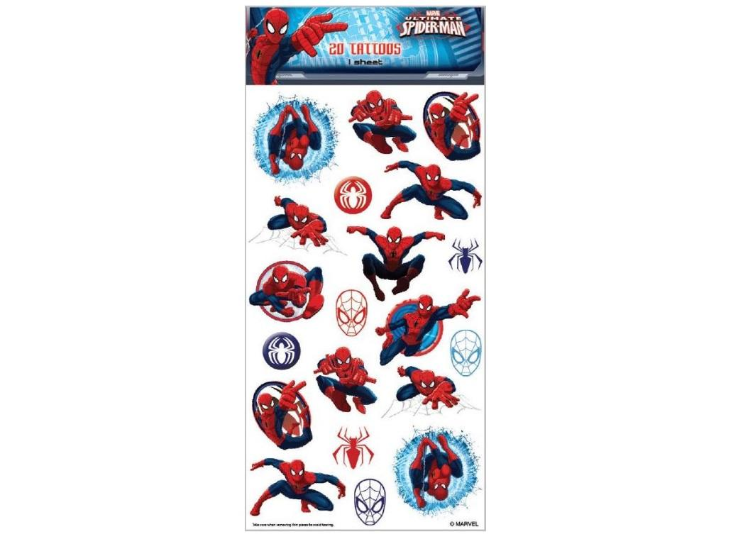Spiderman Temporary Tattoos