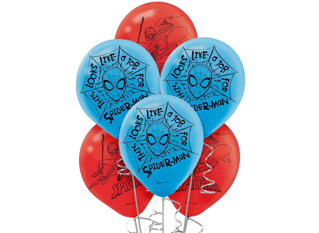 Spiderman Balloons - 6pk