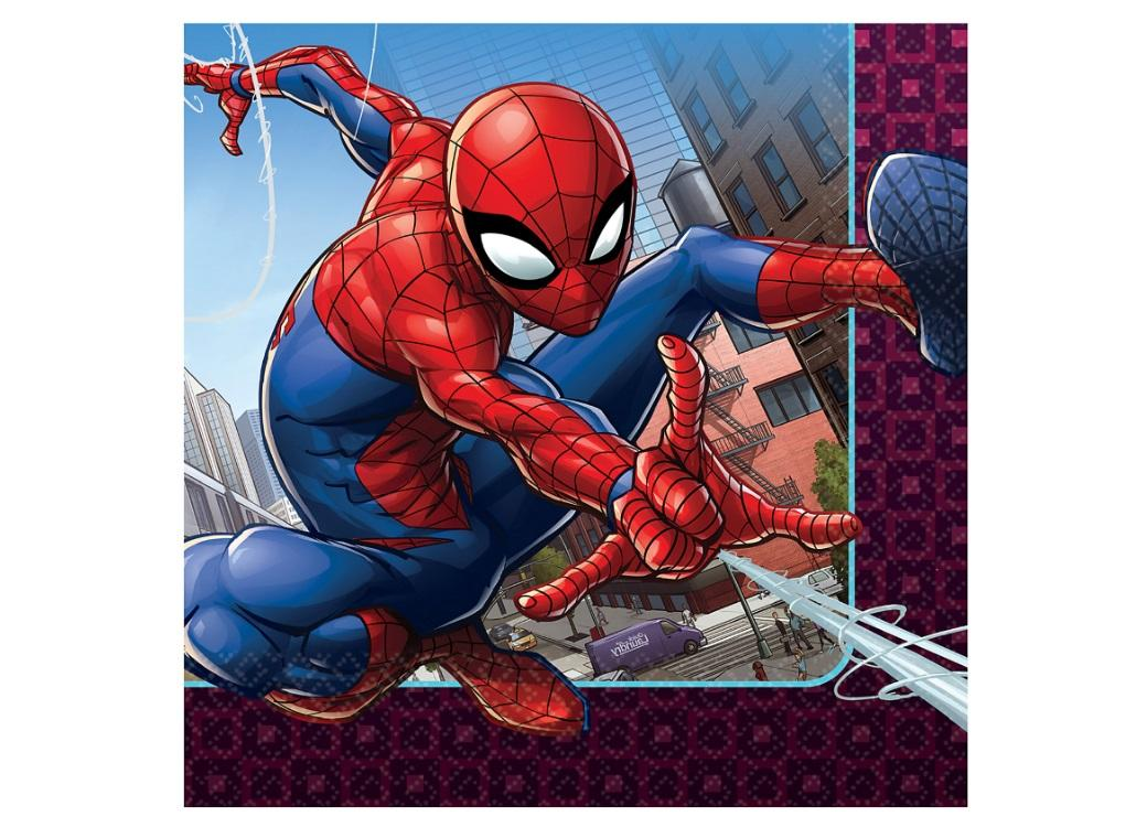 Spiderman Lunch Napkins 16pk