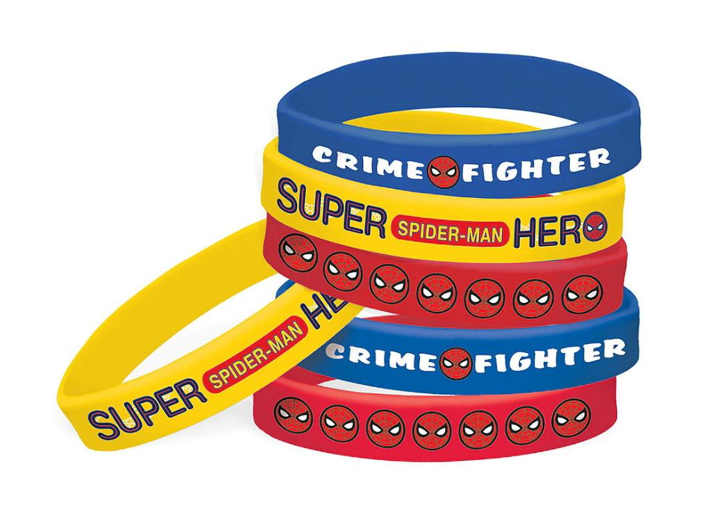Spiderman Bracelets 6pk