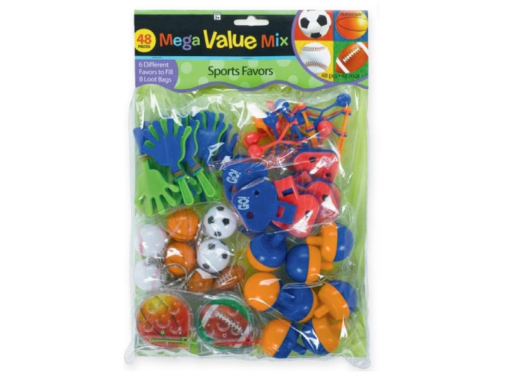Multi Sport Mega Value 48pce Favour Pack