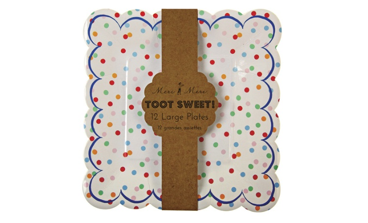 Meri Meri Toot Sweet Spotty Plates Small