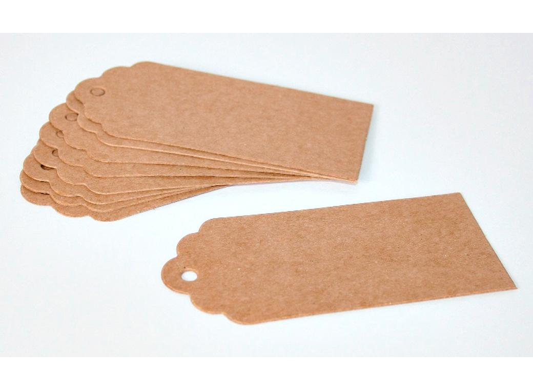 Kraft Rounded Tags - 12pk