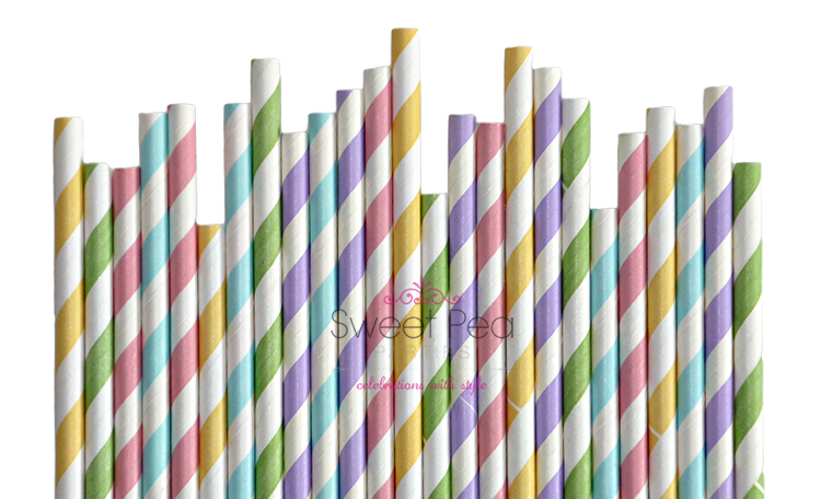 Paper Straws Spring Mix