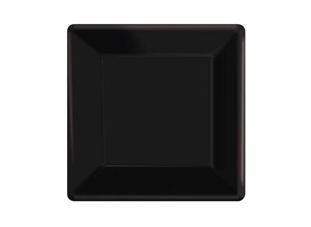 Lunch Plates Square - Black 20pk
