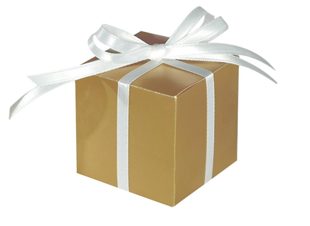 Square Favour Box - Gold