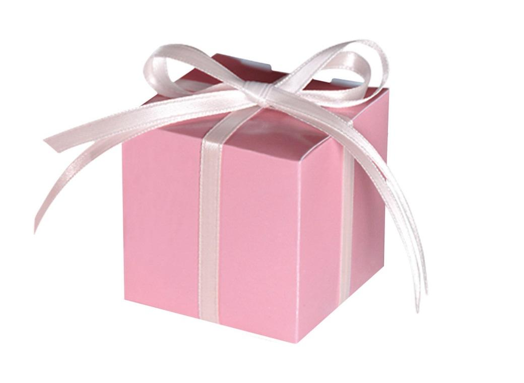 Square Favour Box - New Pink