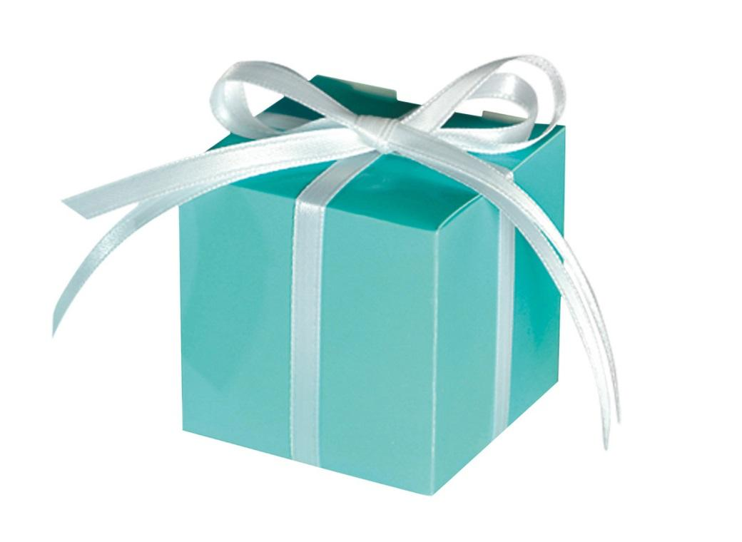 Square Favour Box - Robins Egg Blue