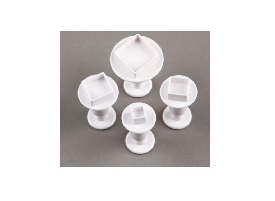 Square Plunger Cutters - Set of 4