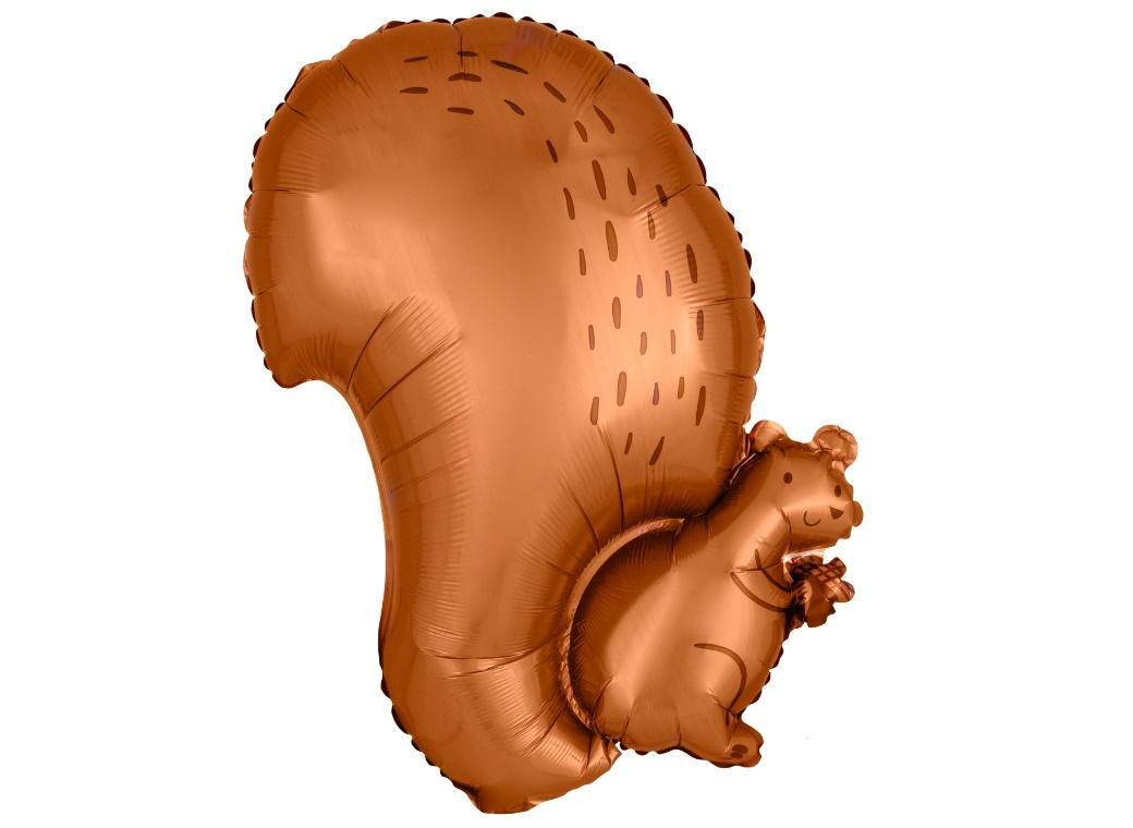 Squirrel Shaped Foil Balloon