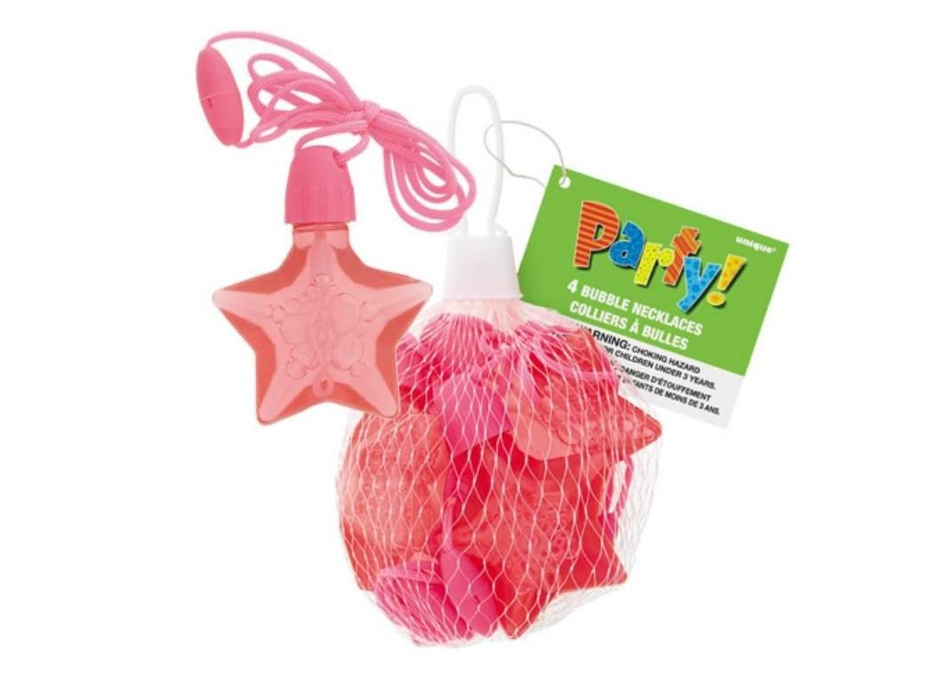 Star Bubble Necklaces 4pk