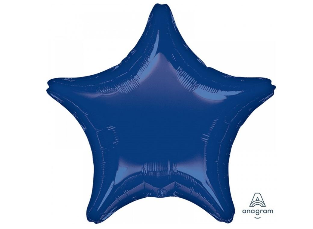 Star Shaped Foil Balloon - Navy Blue