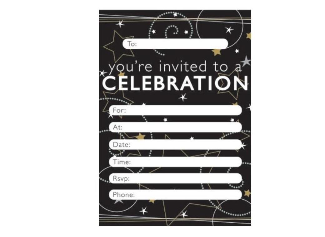 Starry Celebration Invitations