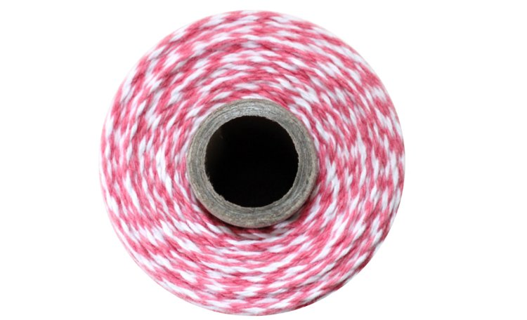 100% Cotton Bakers Twine - Strawberry