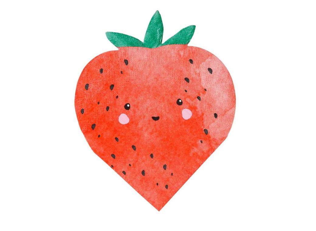 Strawberry Fields Shaped Napkins 16pk