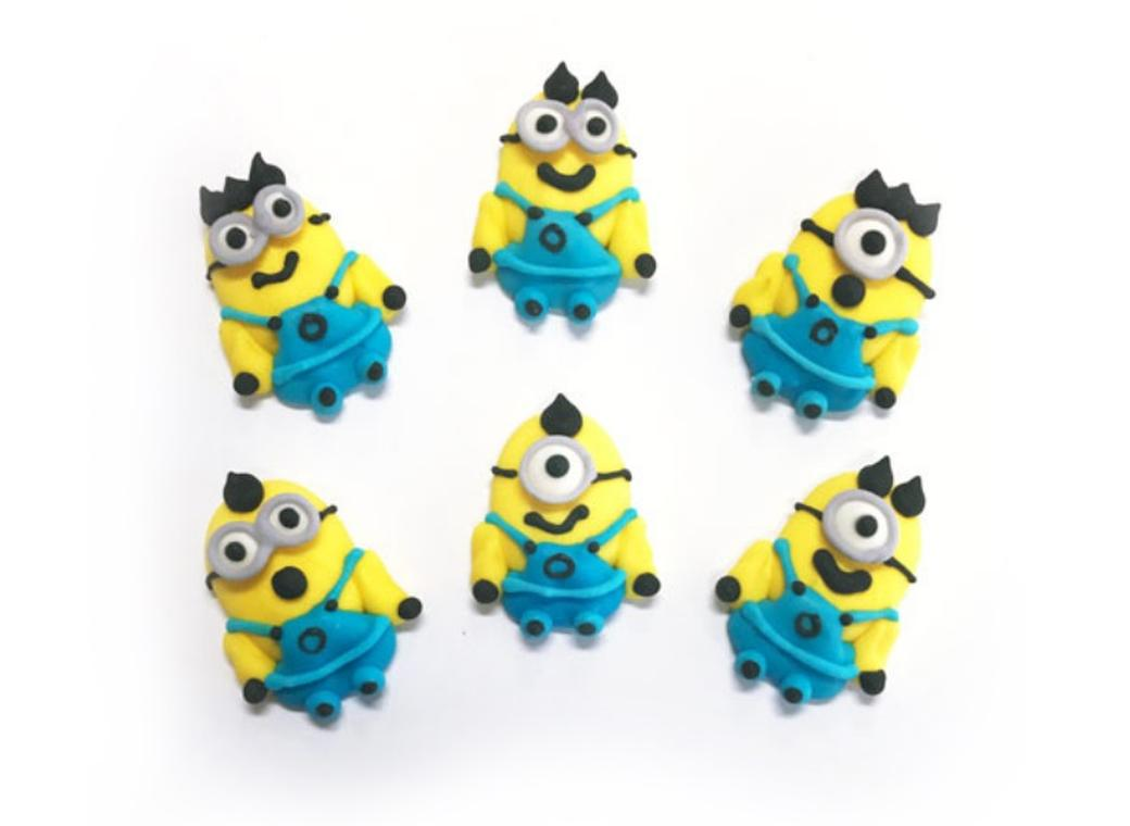 Sugar Icing Decorations 6pk - Minions