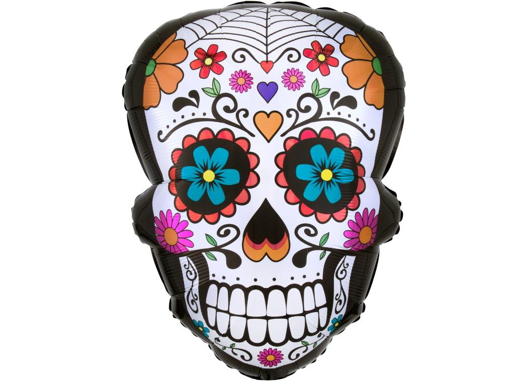 Day of the Dead Sugar Skull Foil Balloon