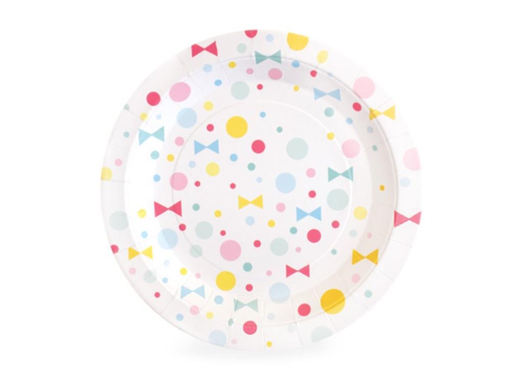 Paper Eskimo Dessert Plates - Summer Bows