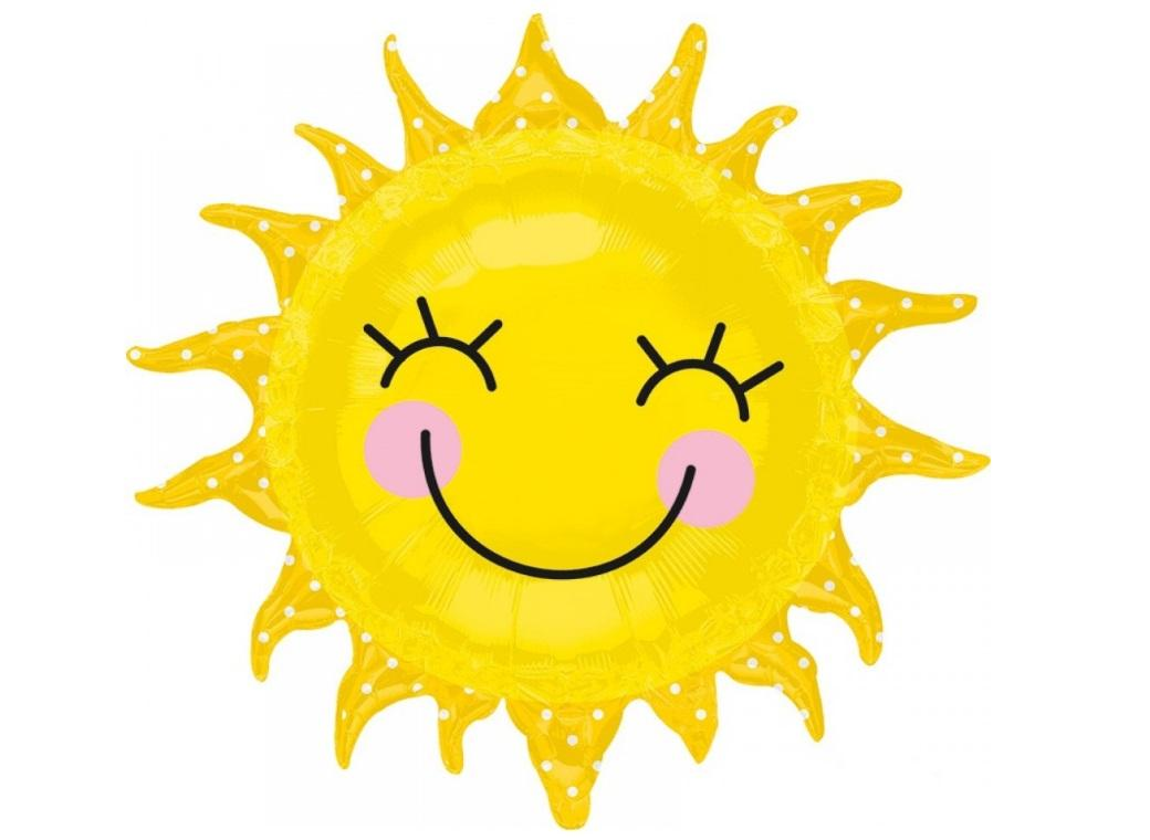 Smiley Sunshine Foil Balloon