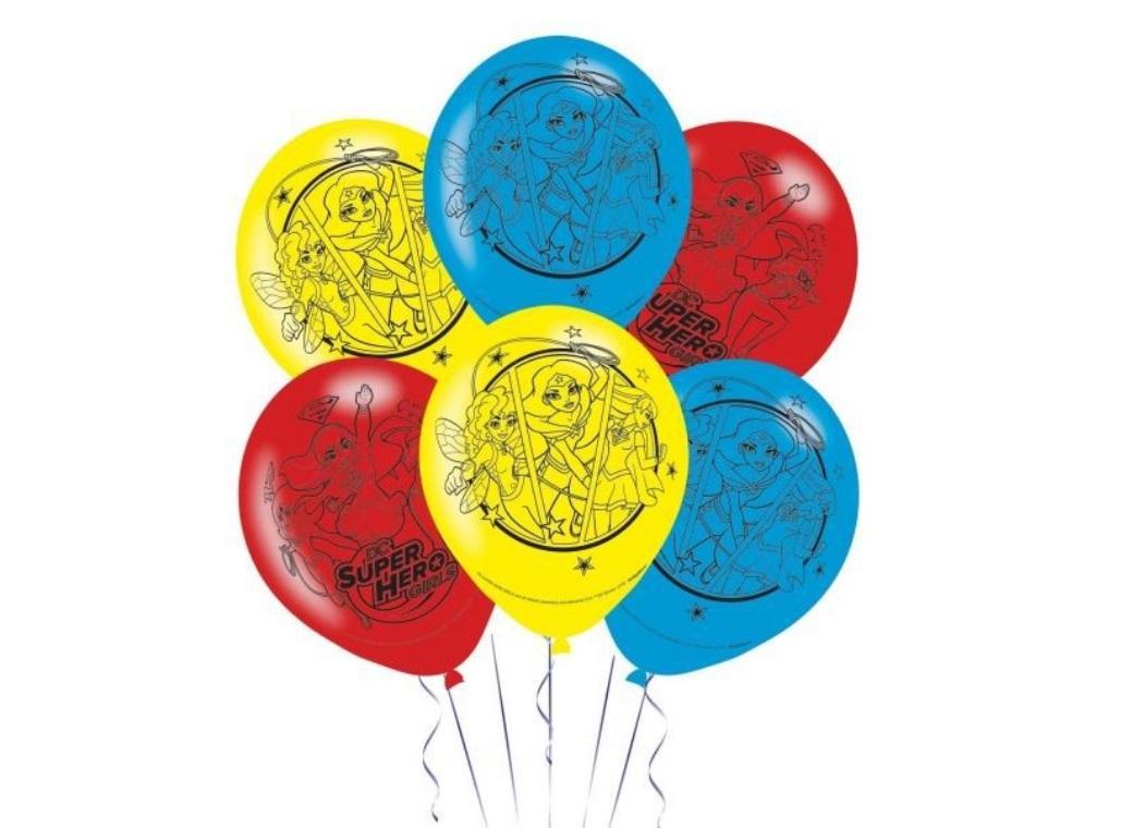 Super Hero Girls Balloons 6pk