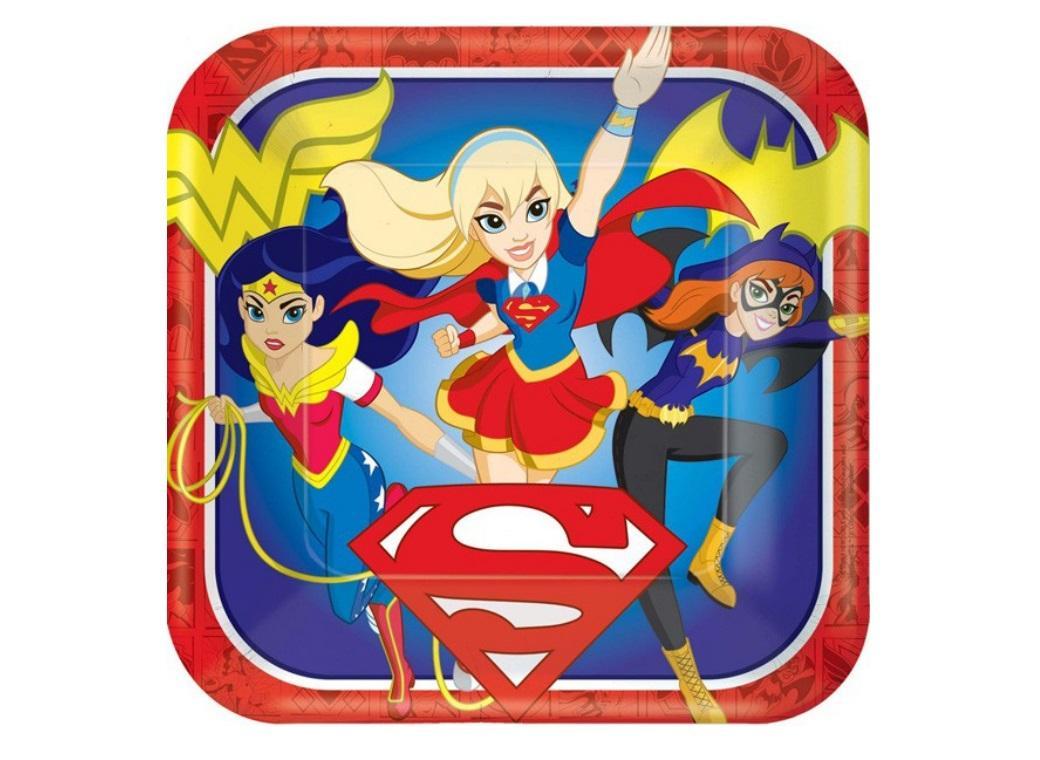 Super Hero Girls Dinner Plates 8pk