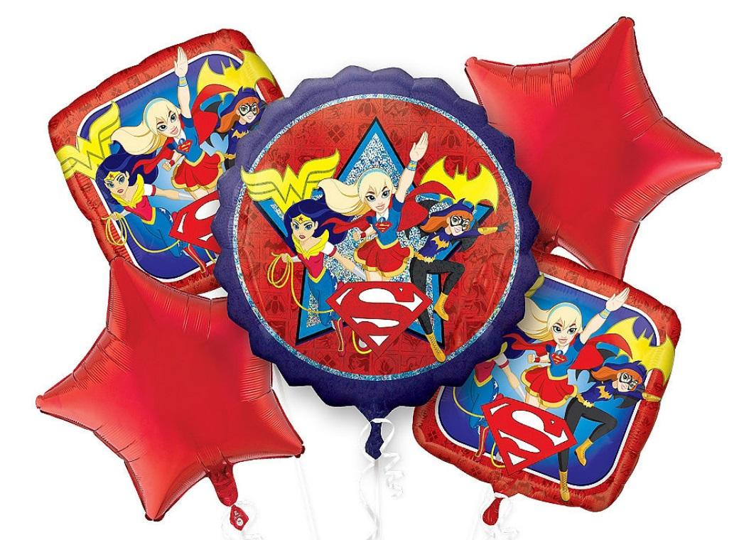 Super Hero Girls Foil Balloon Bouquet