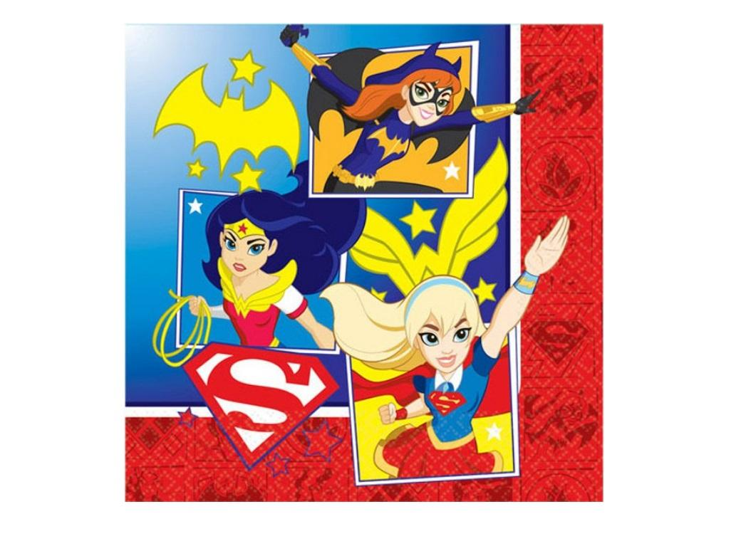 Super Hero Girls Lunch Napkins 16pk
