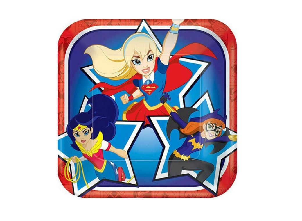 Super Hero Girls Lunch Plates 8pk