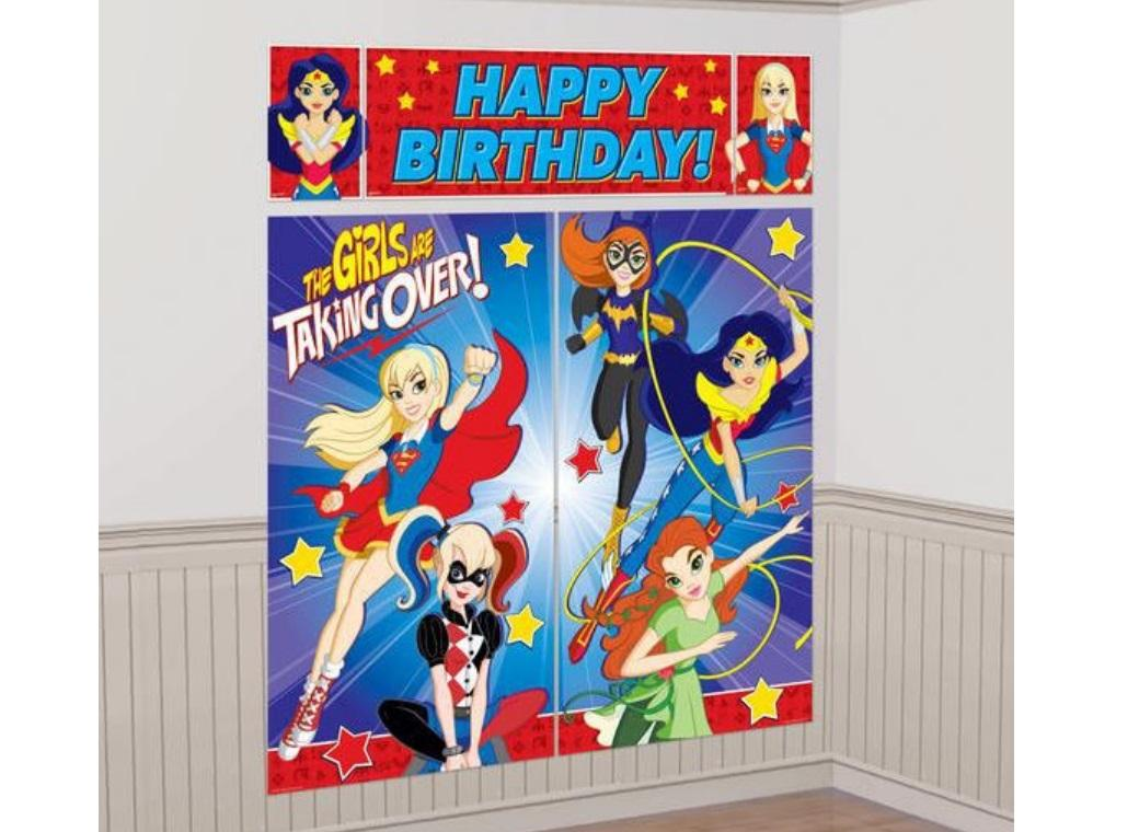 Super Hero Girls Wall Decorating Kit