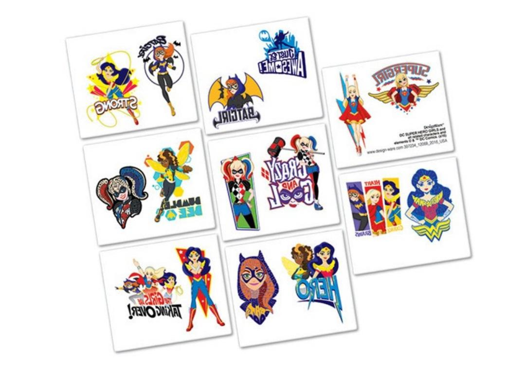 Super Hero Girls Temporary Tattoos