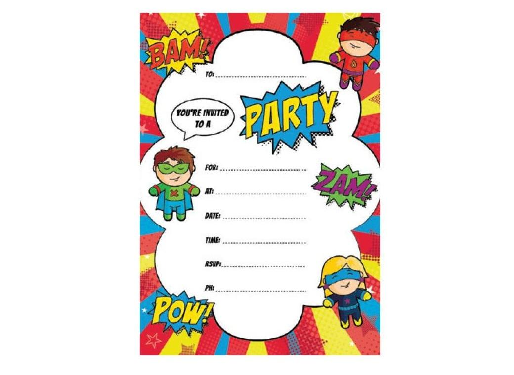 Super Hero Invitations