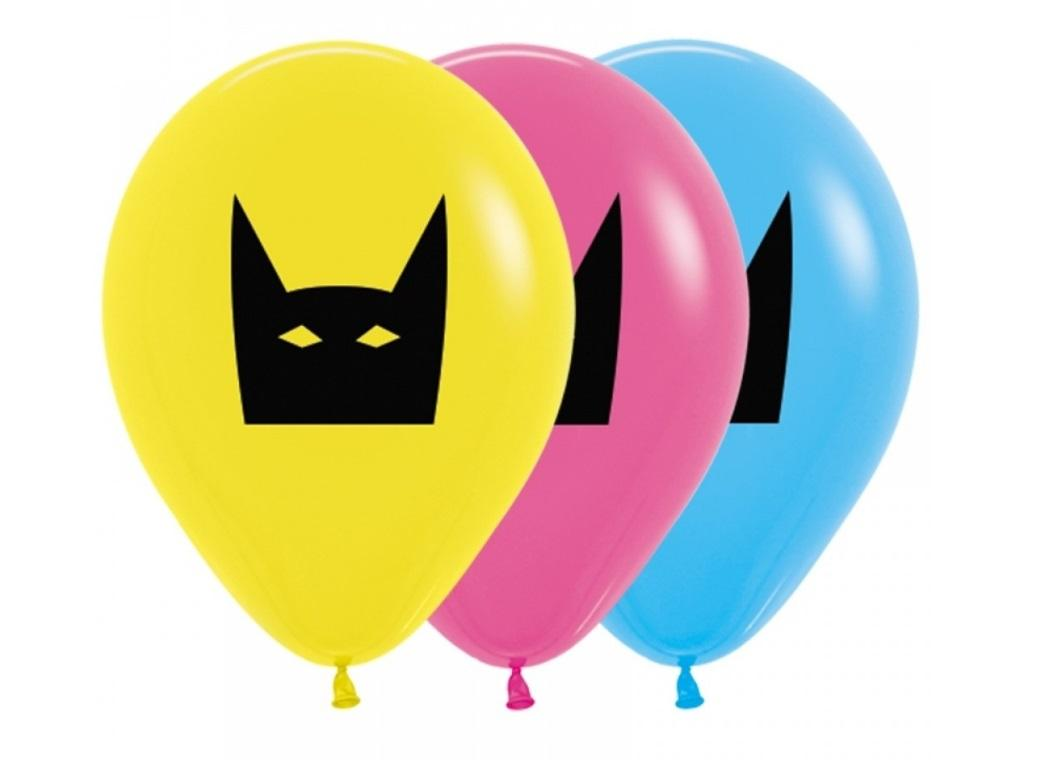 Super Hero Masks Balloons 5pk