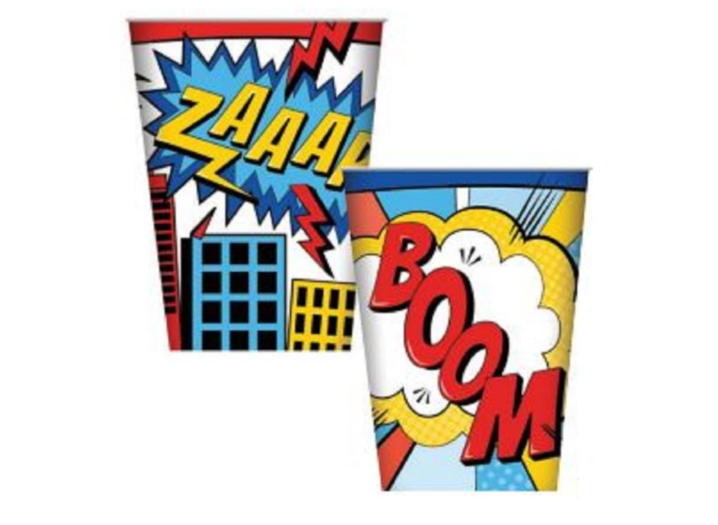 Super Hero Party Cups 8pk