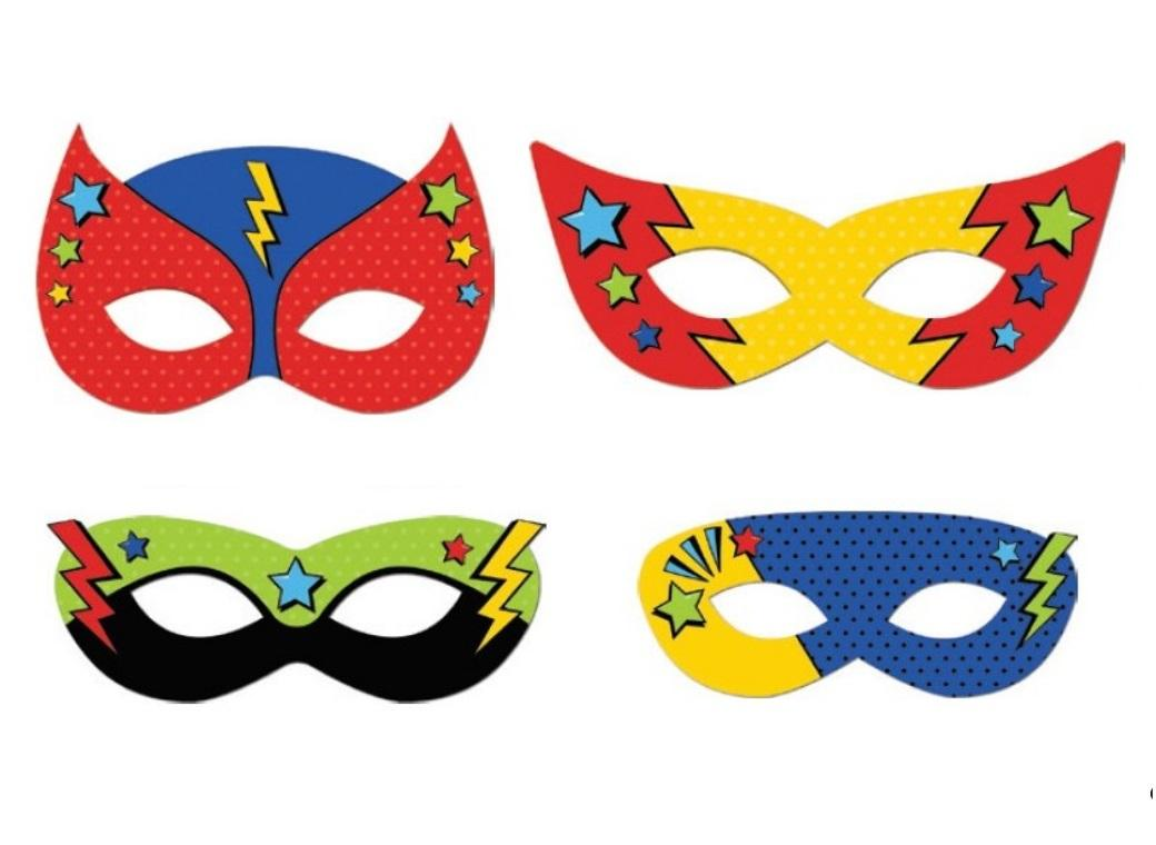 Super Hero Party Masks 8pk