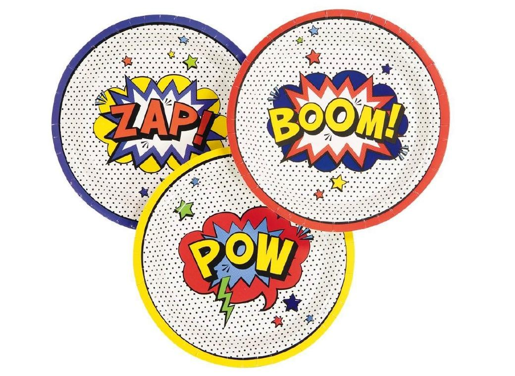 Super Hero Party Plates 8pk