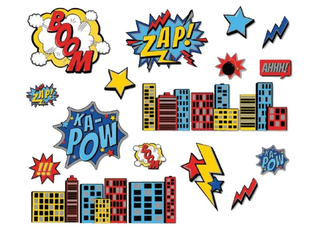 Super Hero Wall Decor Kit