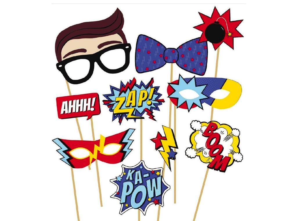 Super Hero Party Photo Props