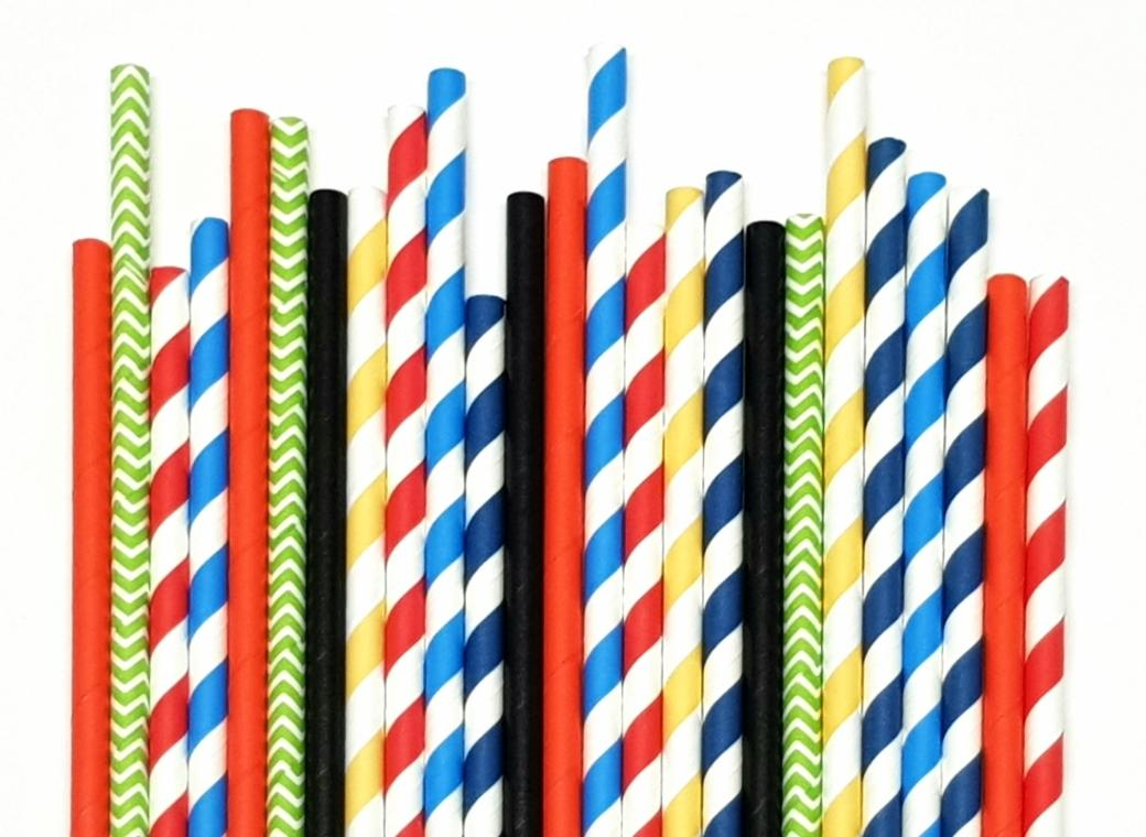 Paper Straws Mix 25pk - Super Hero