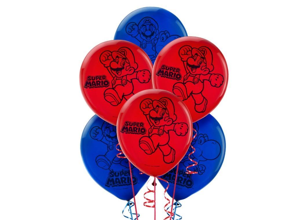 Super Mario Balloons 6pk