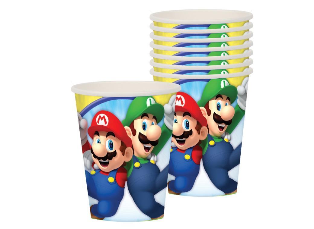 Super Mario Cups 8pk