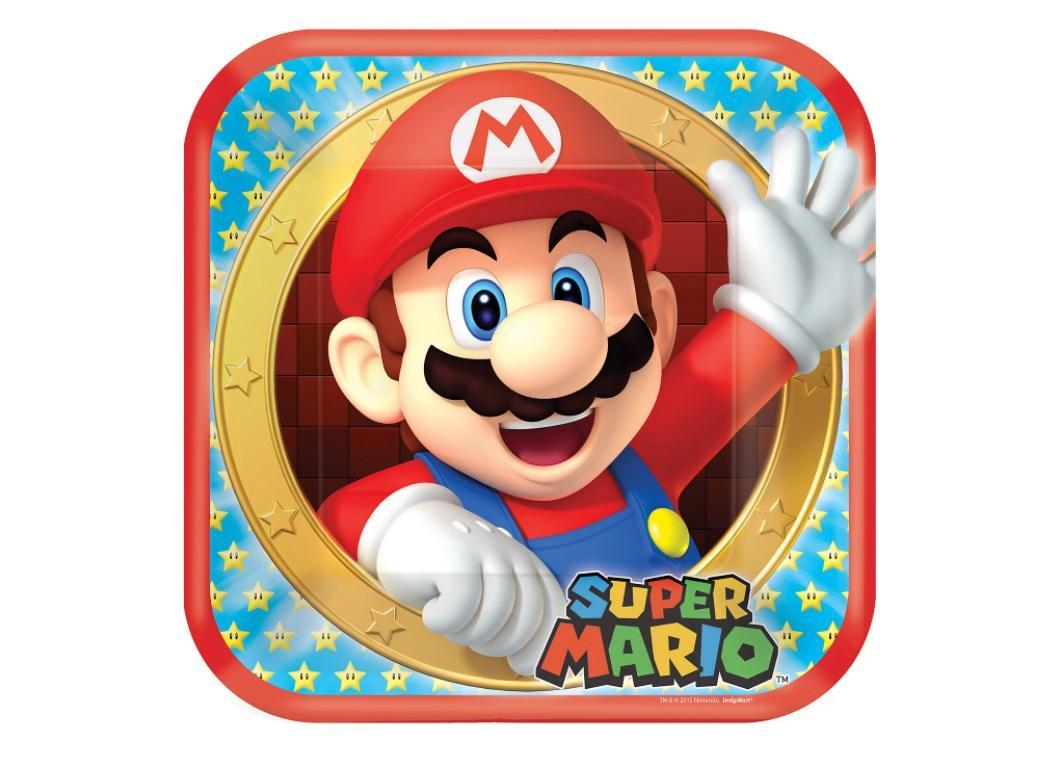 Super Mario Dinner Plates 8pk