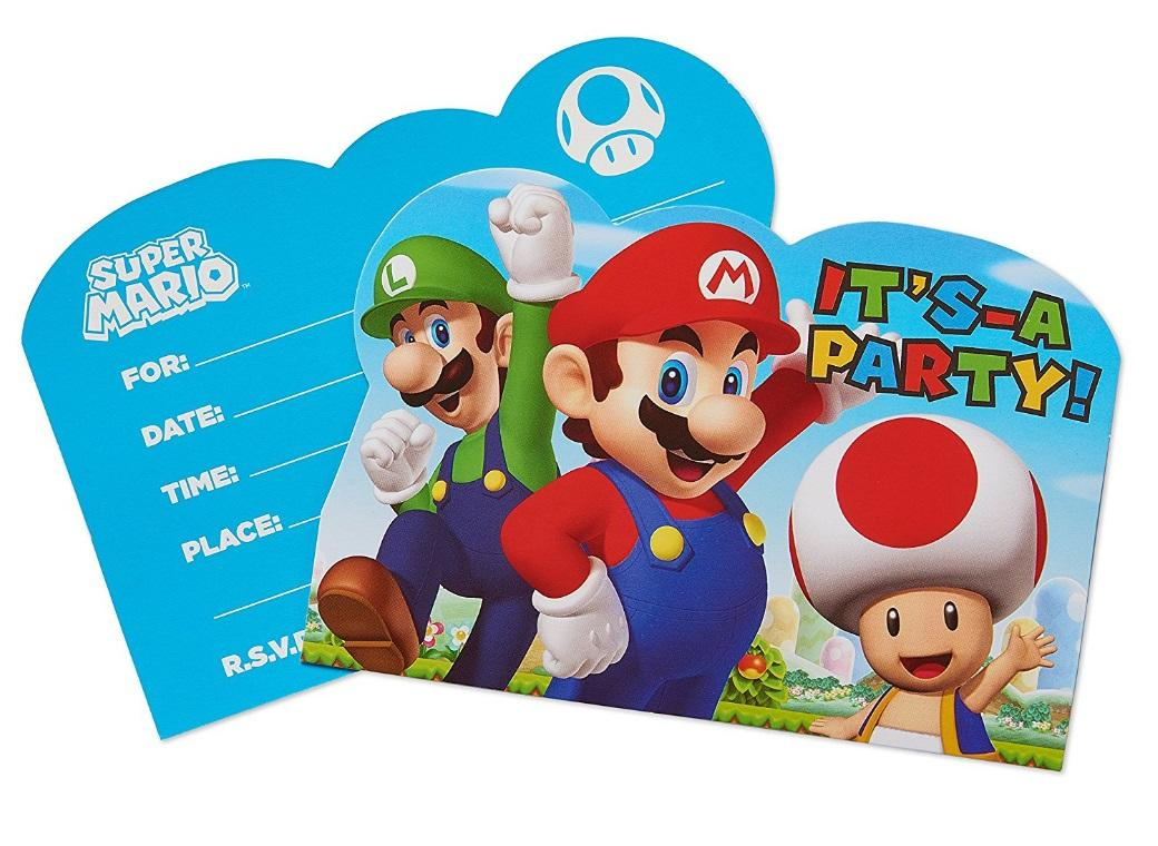 Super Mario Invitations 8pk