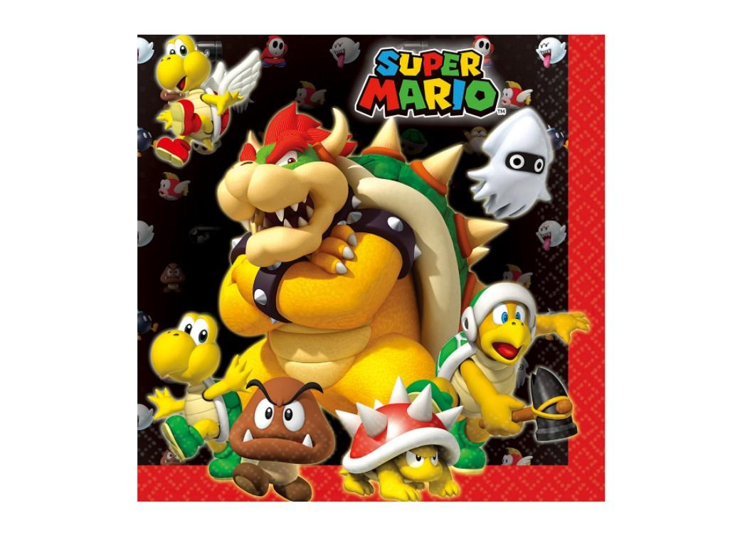 Super Mario Lunch Napkins 16pk
