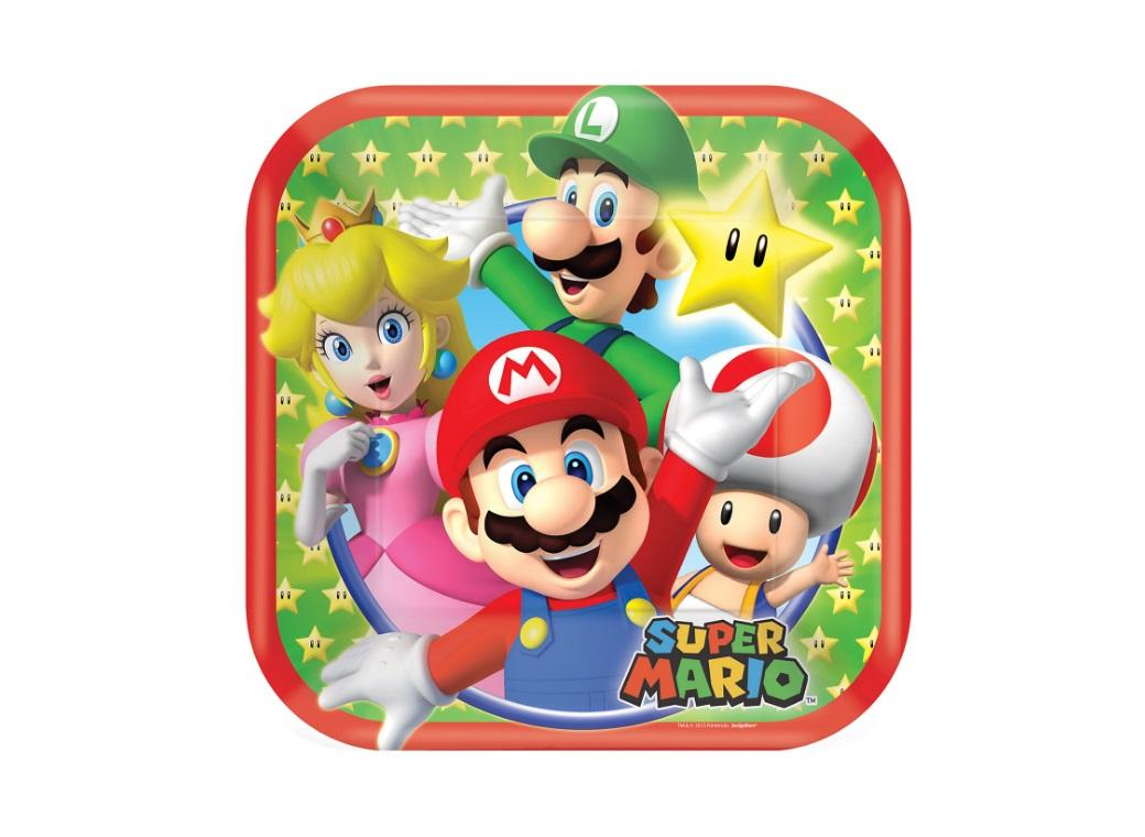 Super Mario Lunch Plates 8pk