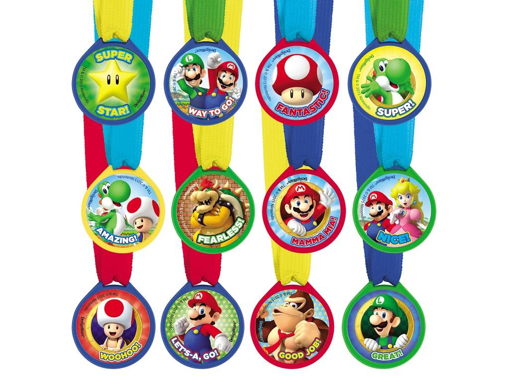 Super Mario Mini Award Medals 12pk