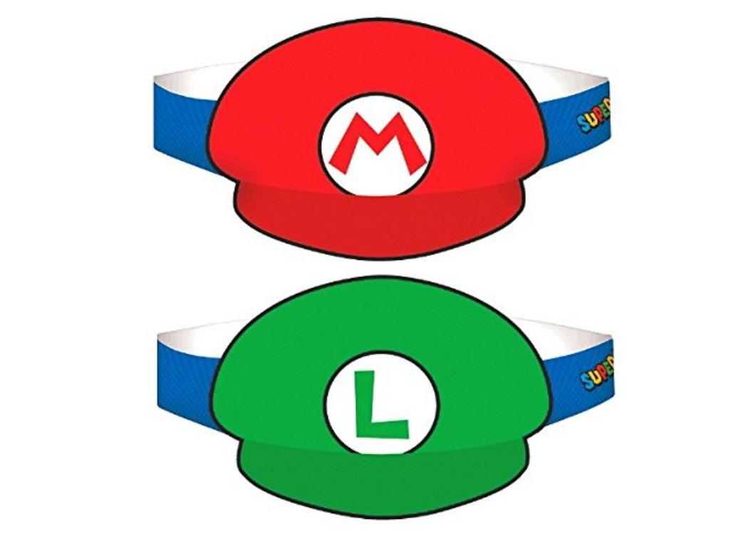Super Mario Party Hats 8pk