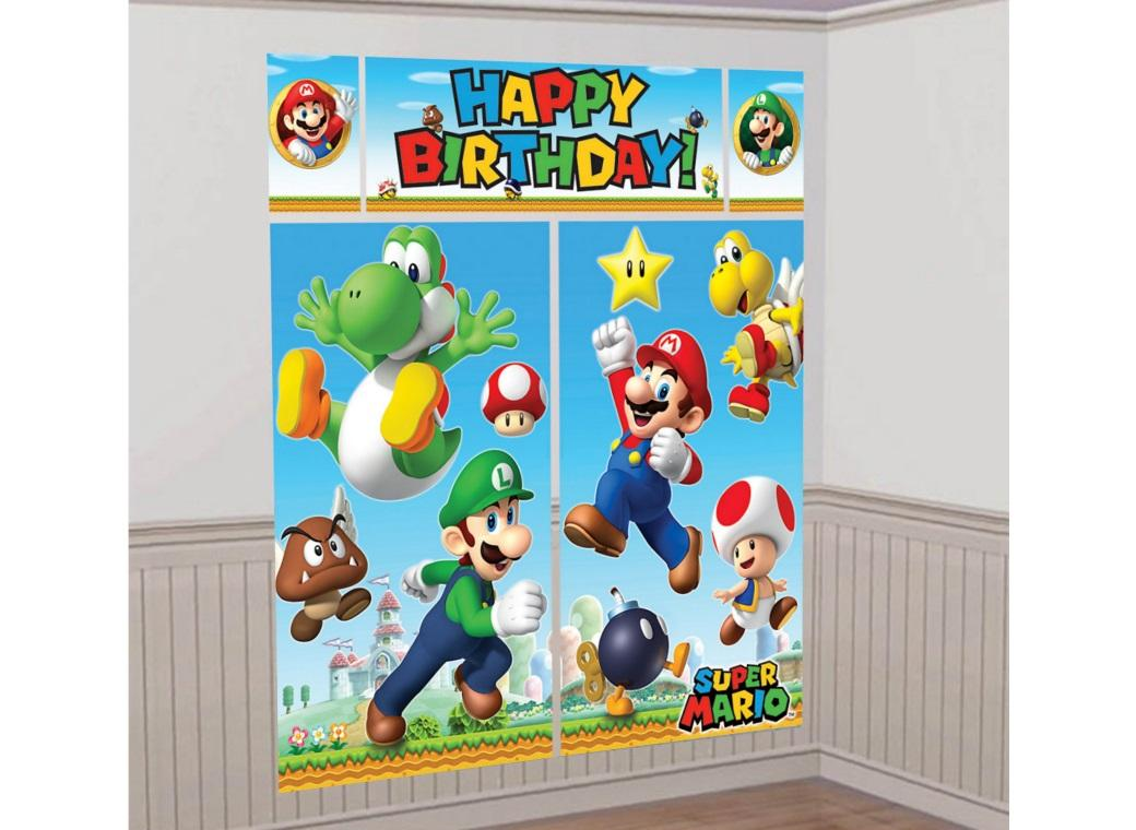 Super Mario Wall Decorating Kit