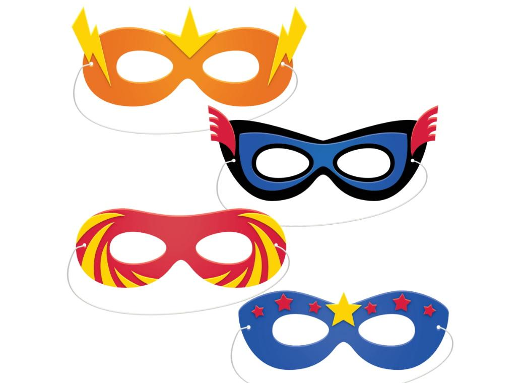 Superhero Foam Masks 4pk