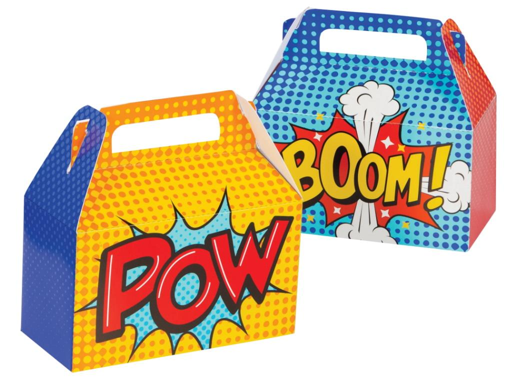 Superhero Treat Boxes 4pk